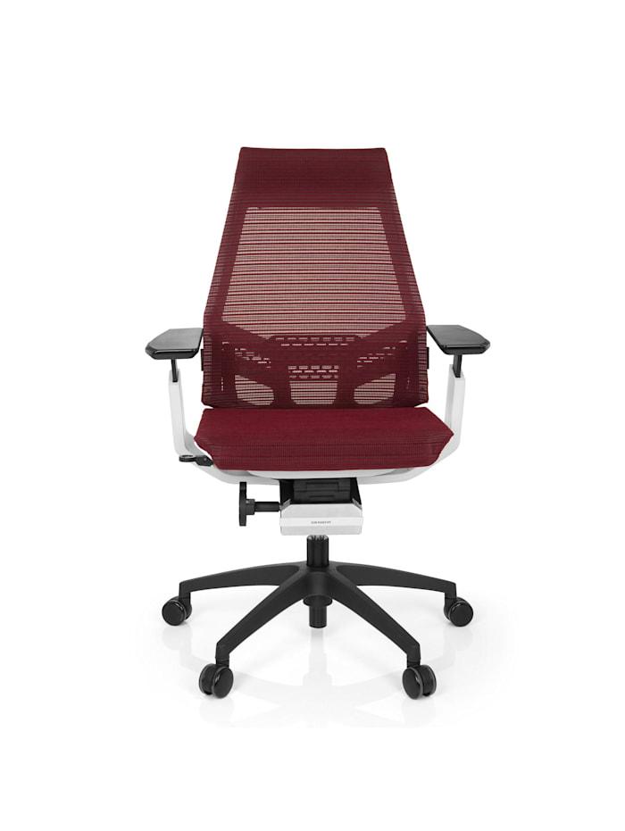 hjh OFFICE Profi Bürostuhl GENIDIA SMART WHITE, Rot / Weiß