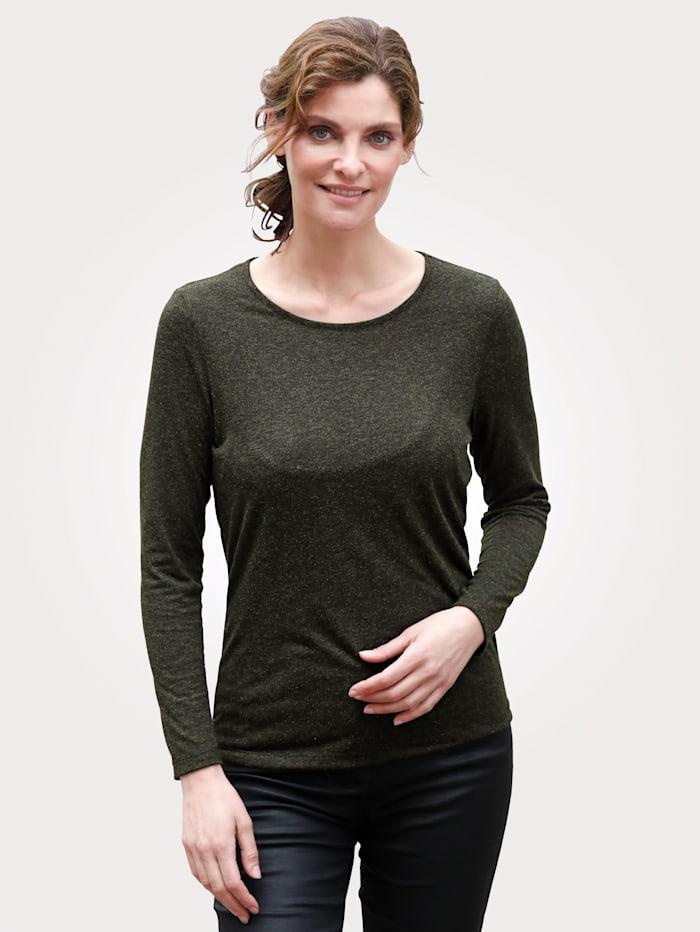 MONA Shirt mit dezentem Glanz, Grün