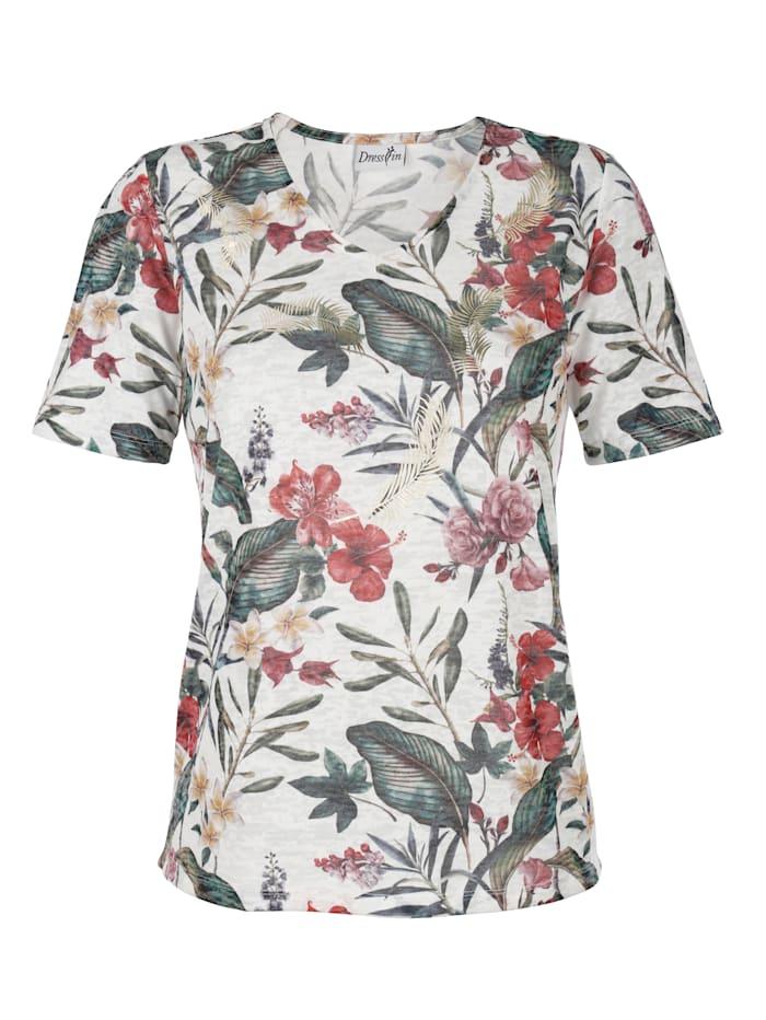 Shirt in Ausbrenneroptik