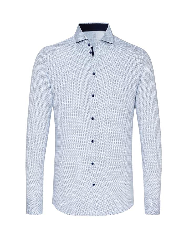 Desoto Jerseyhemd New Hai Langarm, white cobalt chains