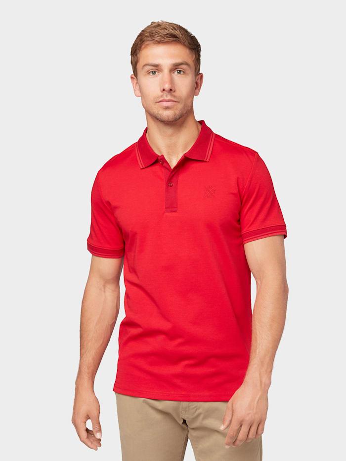 Tom Tailor Poloshirt mit Logo-Stickerei, canna red