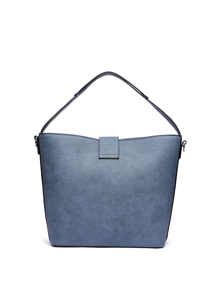 Handtasche Blue Jeans mit dekorativer Gürtelschließe