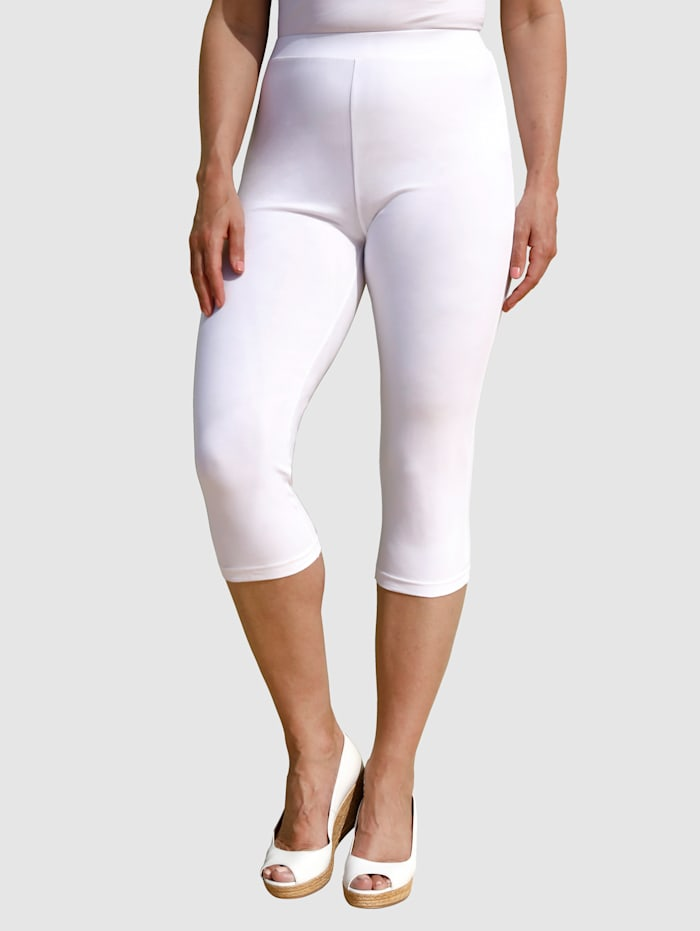 MIAMODA Leggings in bequemer Passform, Weiß