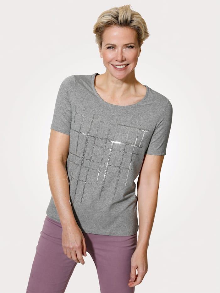 MONA T-shirt en matière chinée, Gris