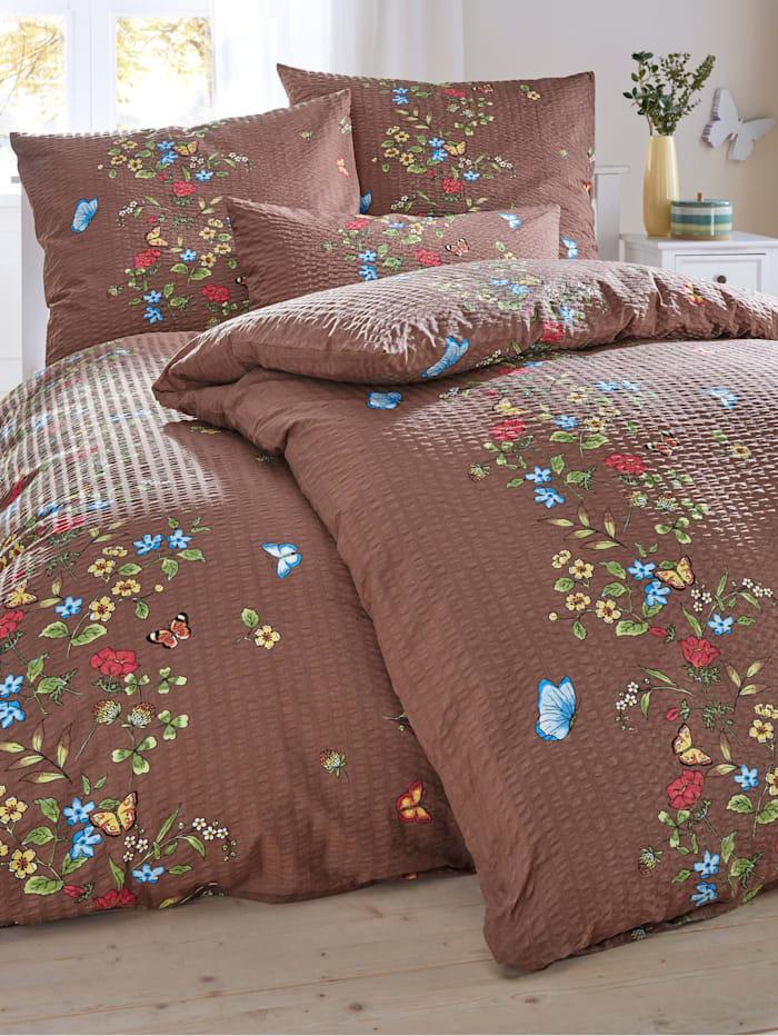 Webschatz 2-delige set bedlinnen Weide, Bruin