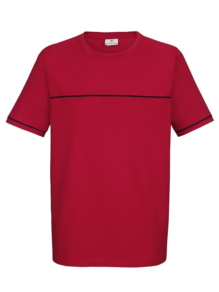 T-shirt met contrastkleurige paspels