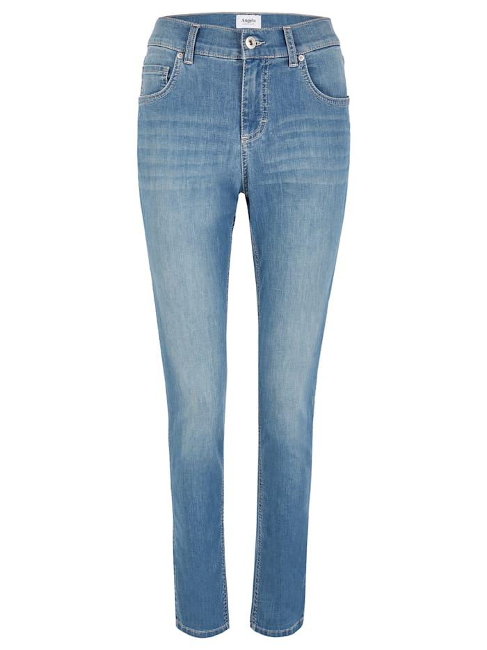 Angels Jeans ,Skinny' mit Five-Pocket-Design, light blue used buffi crinkle