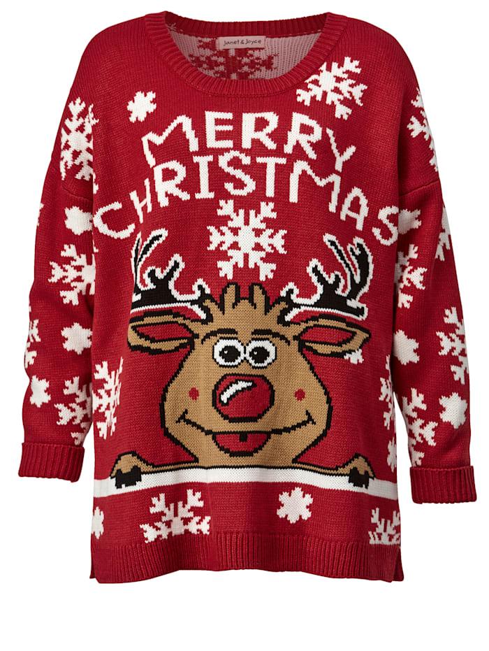 Pullover mit weihnachtlichem Motiv