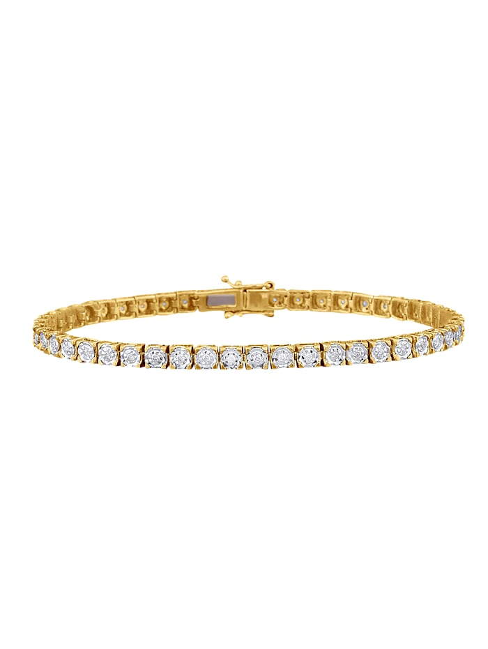 KLiNGEL Armband mit Brillant, Gelbgoldfarben