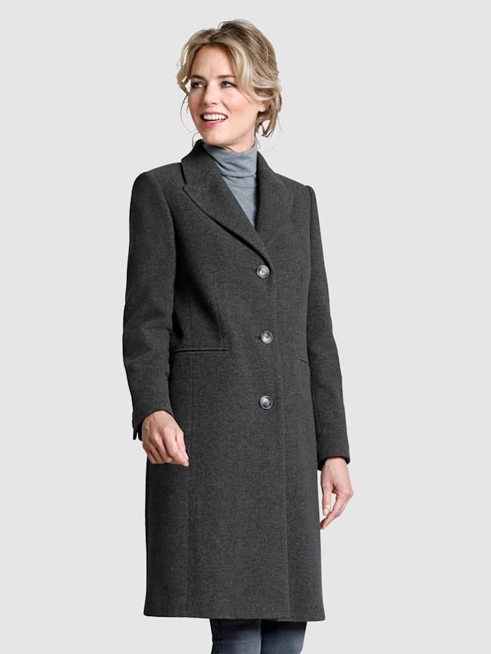 Dress In Manteau en laine mélangée de qualité supérieure, Gris