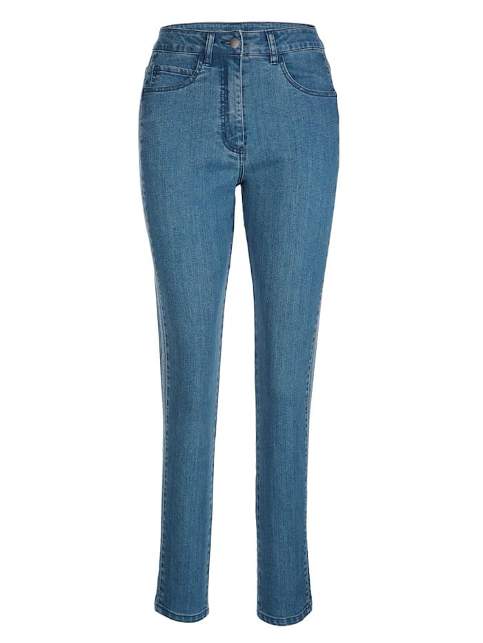 Jeans met stiksels opzij