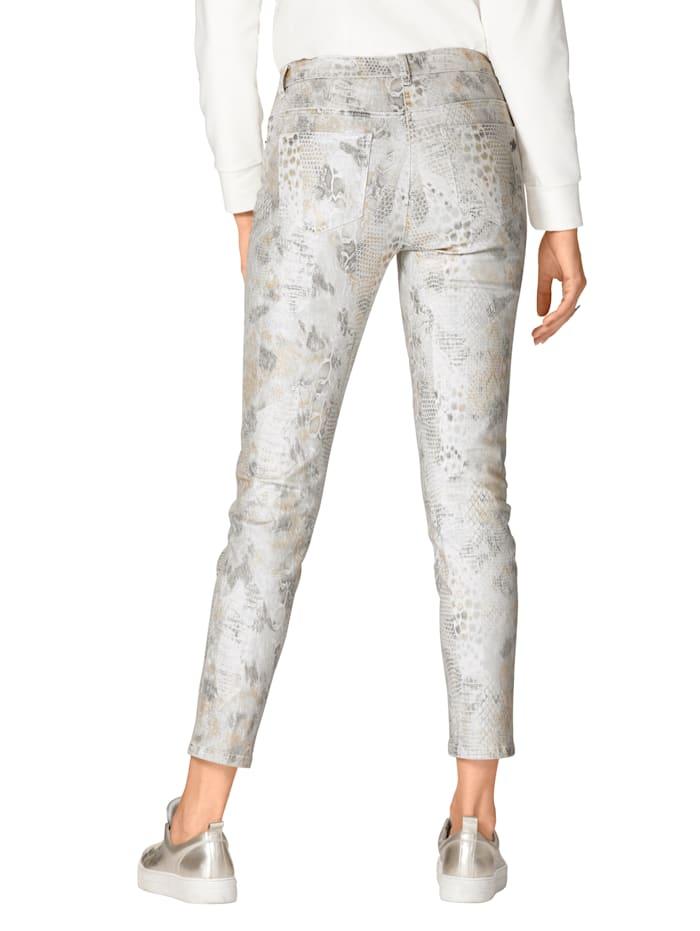 Jeans met modieuze animalprint