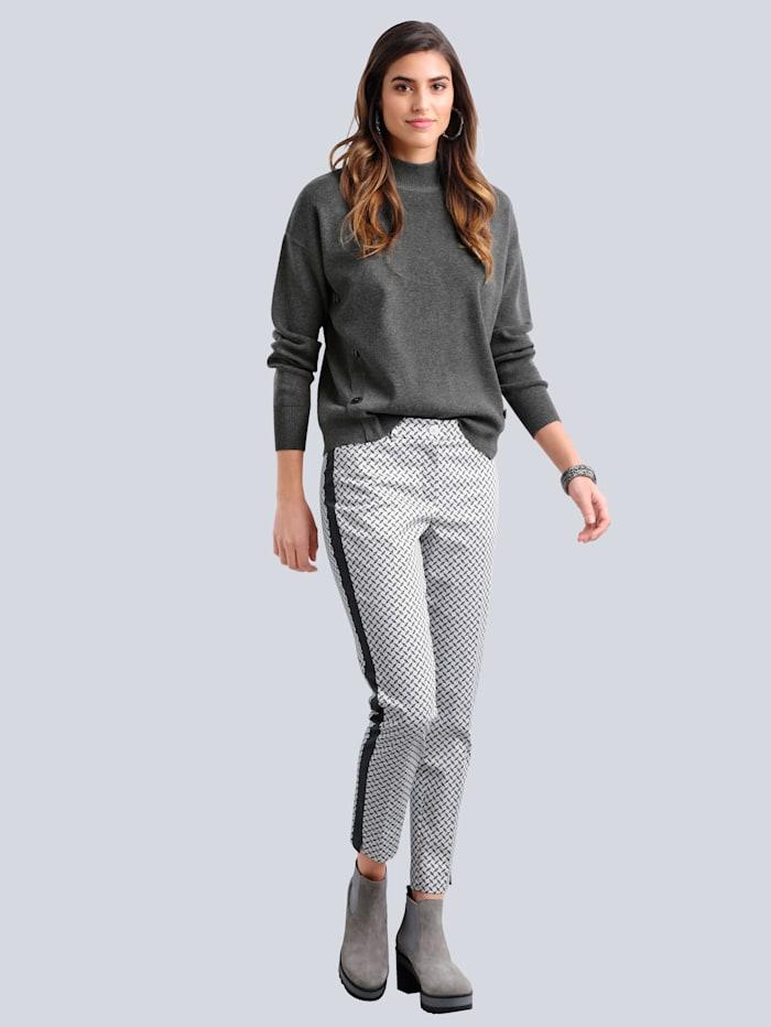 Hose im exklusiven Dessin von Alba Moda