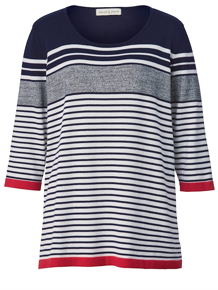 Pullover mit kontrastfarbenen Akzenten