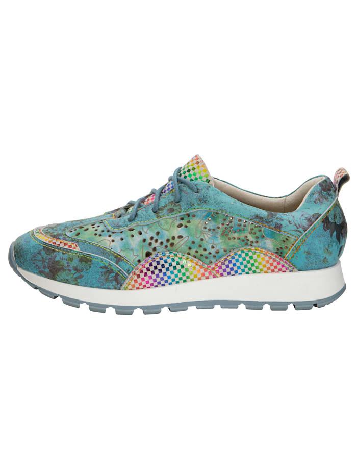 Sneaker in harmonischer und floraler Kombination