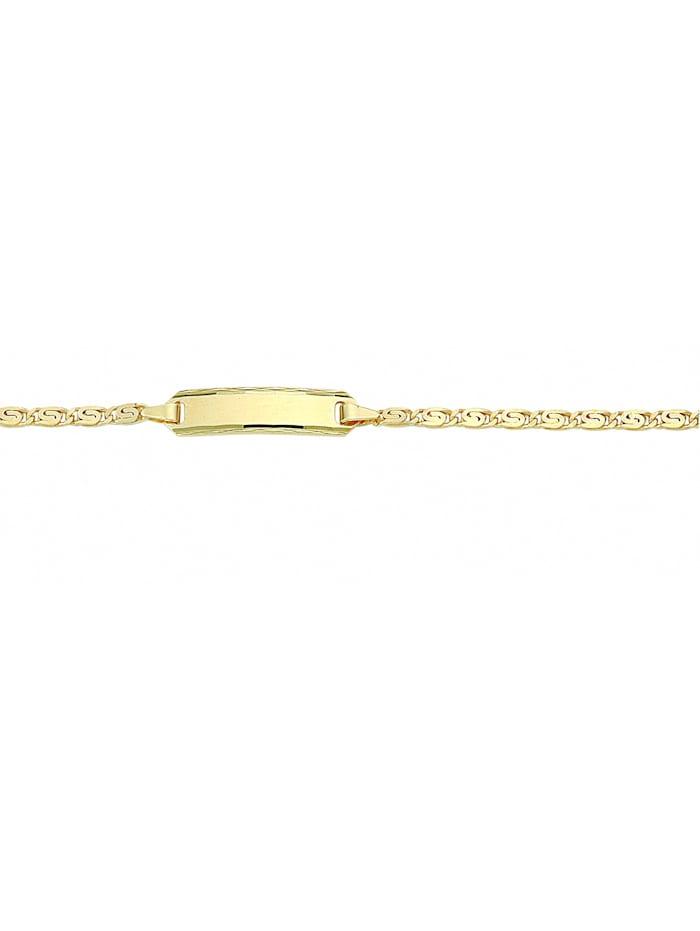1001 Diamonds Damen Goldschmuck 333 Gold S Panzer Armband 14 cm Ø 2,1 mm, gold