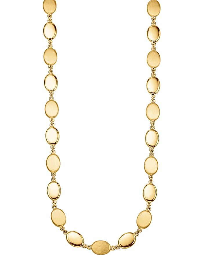 Diemer Gold Halsband med ovala plattor, Guldfärgad