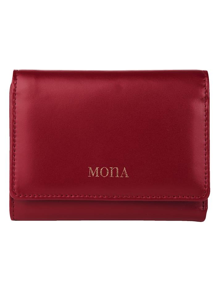 MONA Geldbörse mit komfortabler Fächereinteilung, Rot