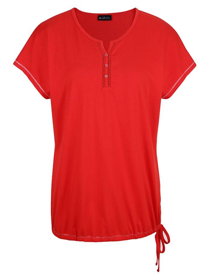 Shirt mit Häkelspitze am Ausschnitt