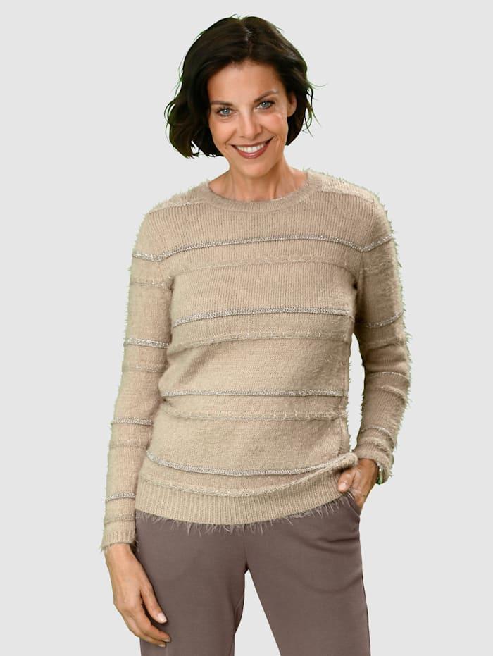 Paola Tröja i mjukt och skönt material, Beige