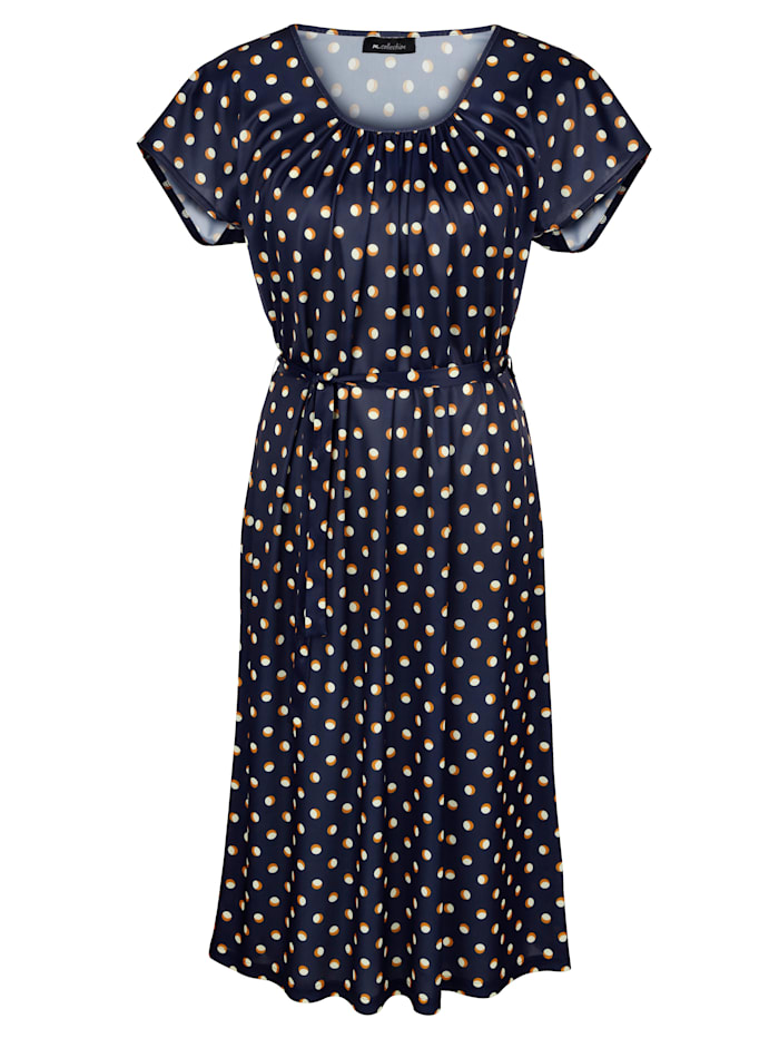 Jersey jurk met stippendessin