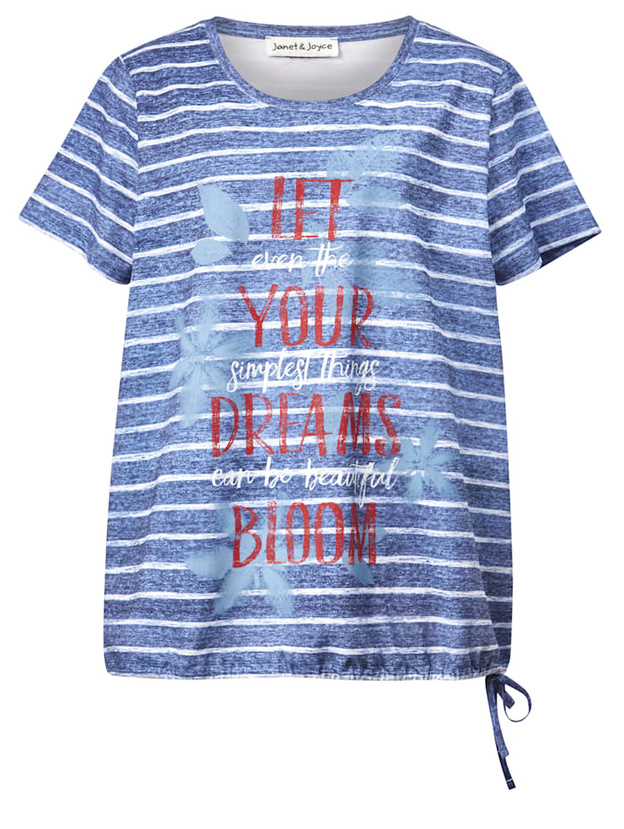 Shirt met tunnelkoord in de zoom