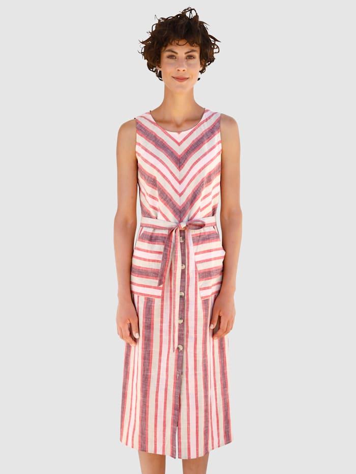 Dress In Kleid in Streifenoptik, Stein
