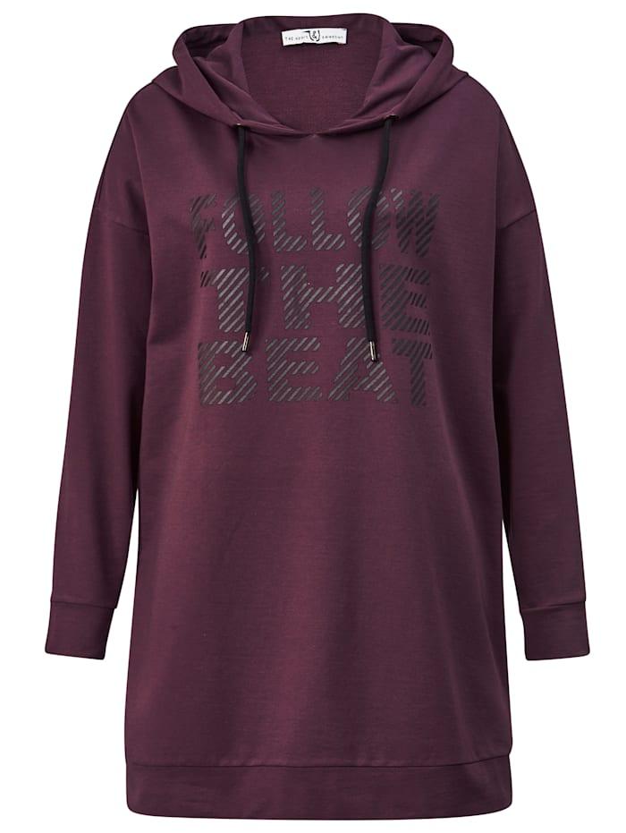 Janet & Joyce Sweatshirt met capuchon, Mauve/Zwart