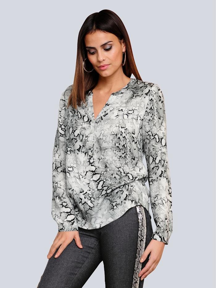 Alba Moda T-shirt à motif animal tendance, Caillou/Noir