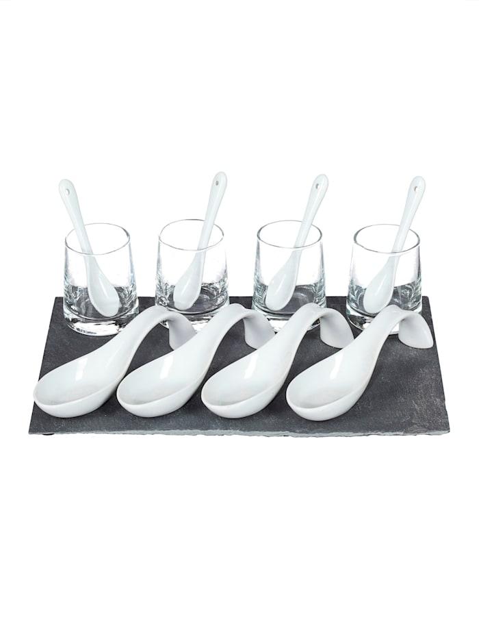 Creativ Deco Appetizer-Set, Schwarz/Weiß