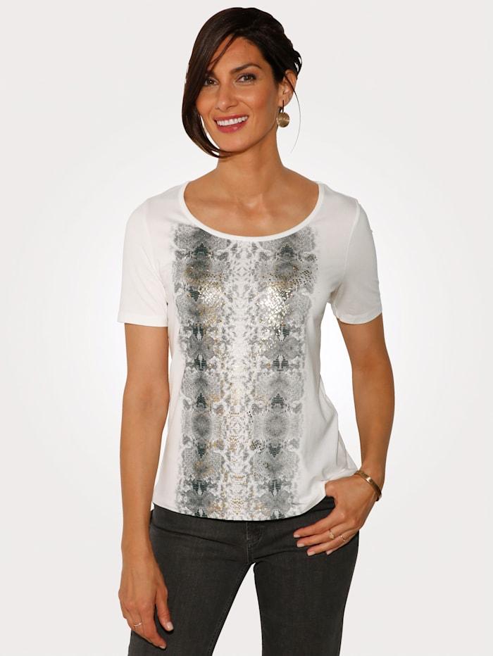 Shirt mit Glanzfolienakzente