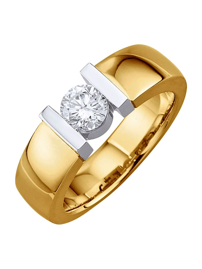 Diemer Solitär Ring met briljant, Wit