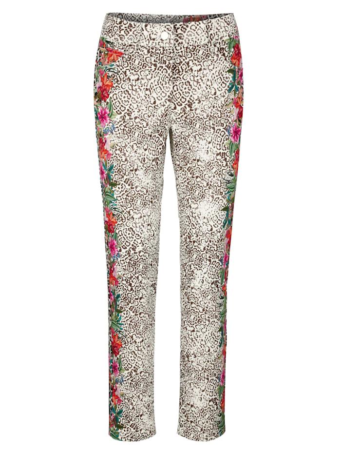 Hose mit seitlichem Blumendruck