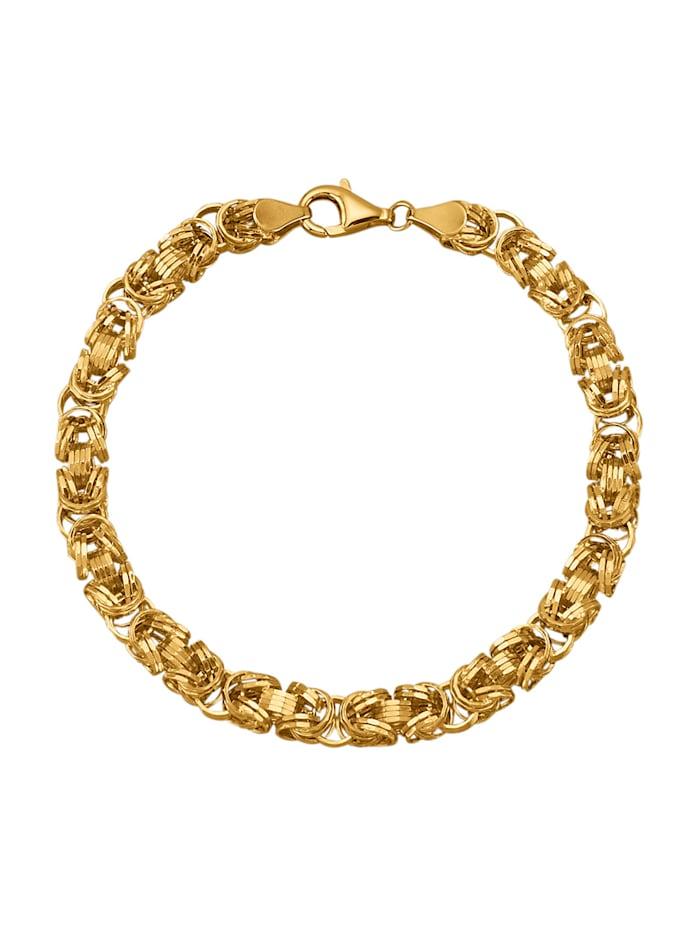 Königsarmband In Gelbgold 375, Gelbgoldfarben