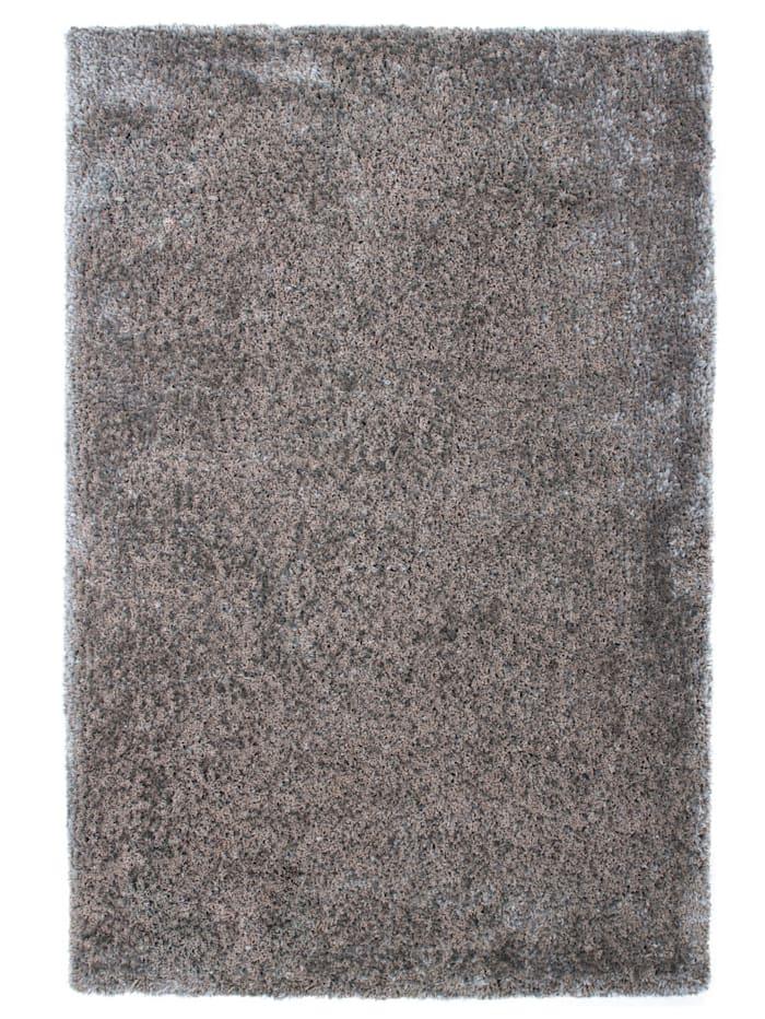 Kayoom Tapis à poils longs Josua, Coloris argenté