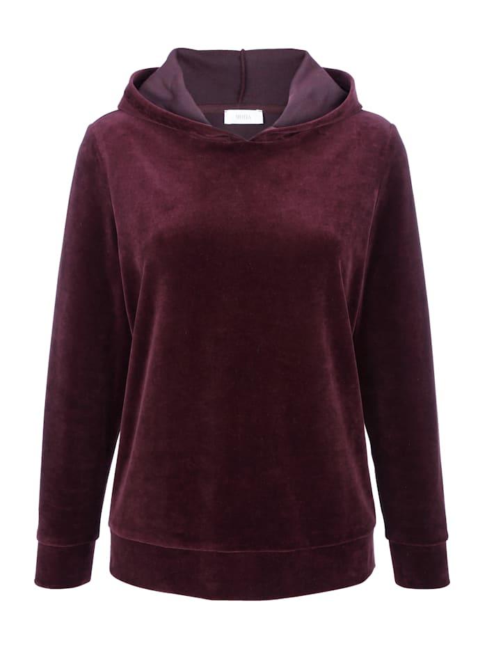 Sweatshirt van zacht velours