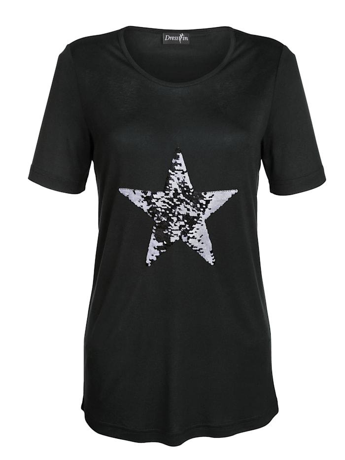 Dress In Paljettisomisteinen paita, Musta