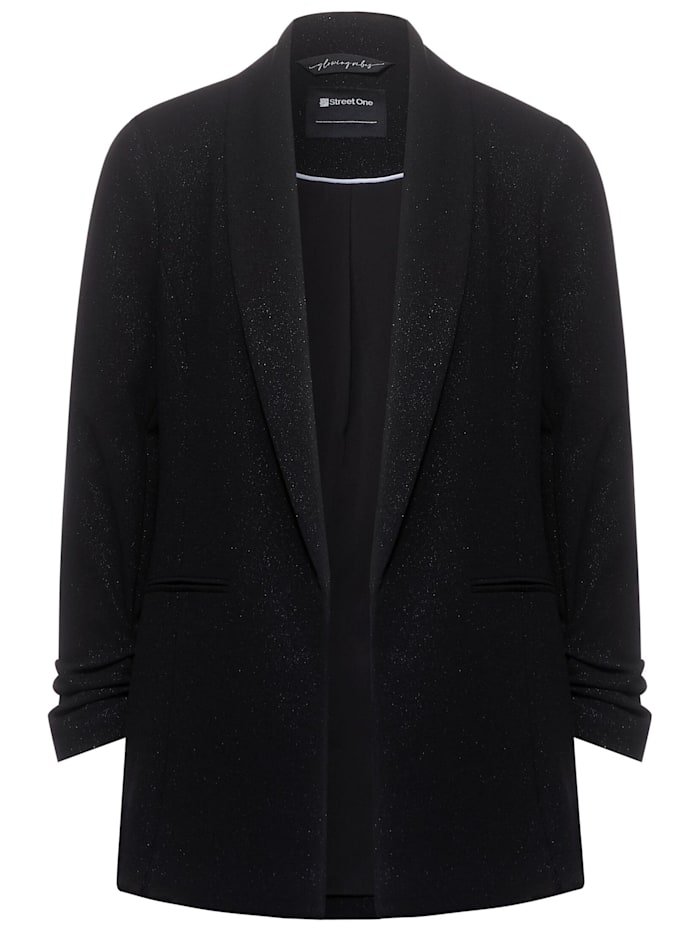 Street One Long Blazer mit Glitzer, Black