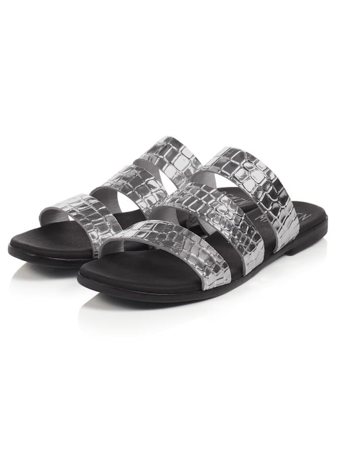 REKEN MAAR Sandale, Silberfarben