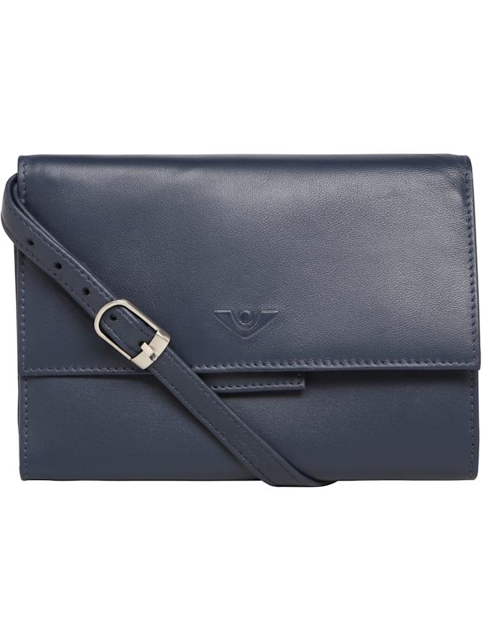 Voi Soft Kimmie Clutch Tasche RFID Leder 17 cm, blau