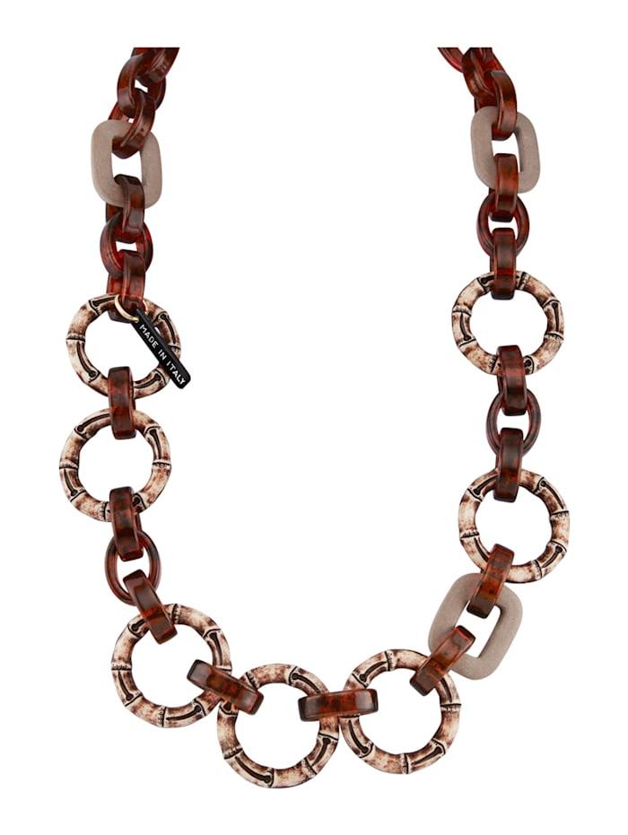 KLiNGEL Halskette im Kettendesign, Braun