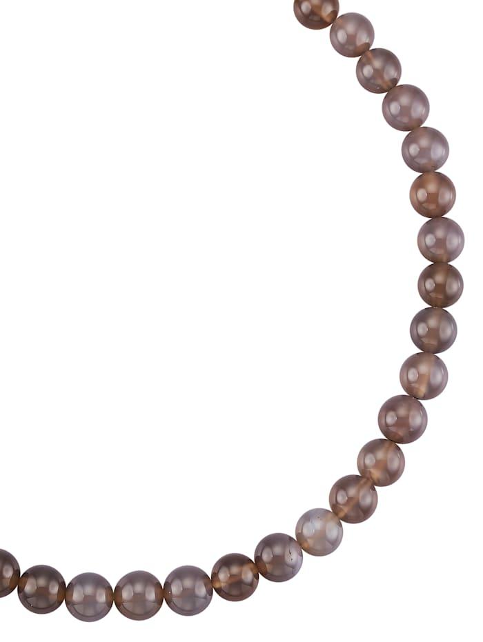 Achat-Kette grau, Grau