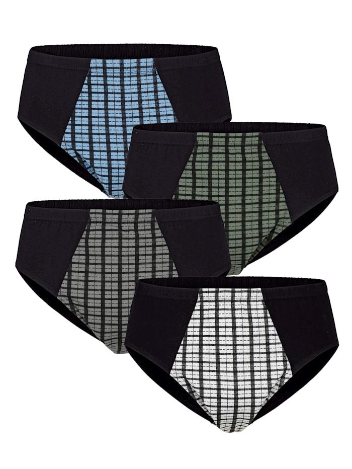 Sportslip zonder gulp 4 stuks, 4x zwart/multicolor