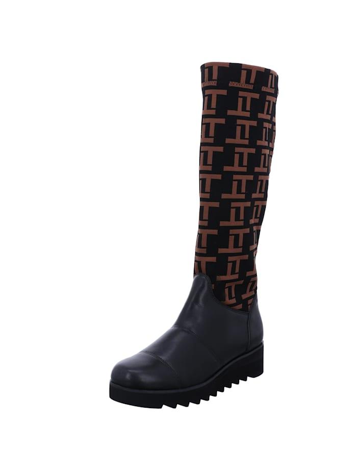 Tizian Tizian Damen-Stiefel Umbria 01, schwarz-kombi, schwarz-kombi