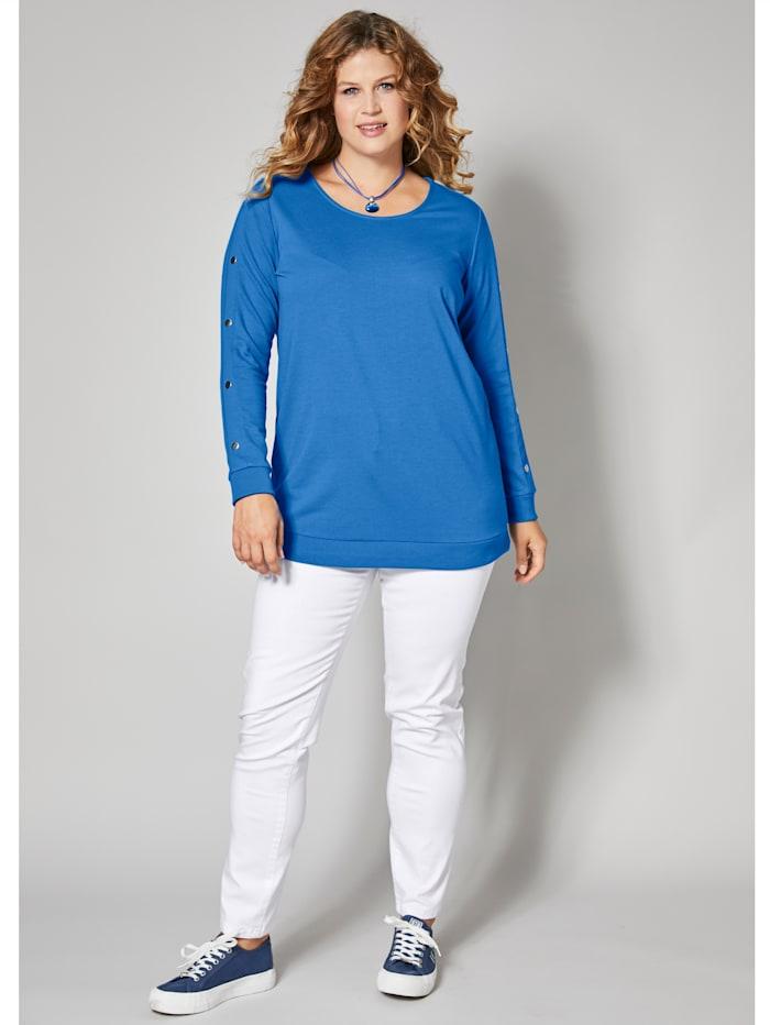 Sweatshirt mit Nietendekoration