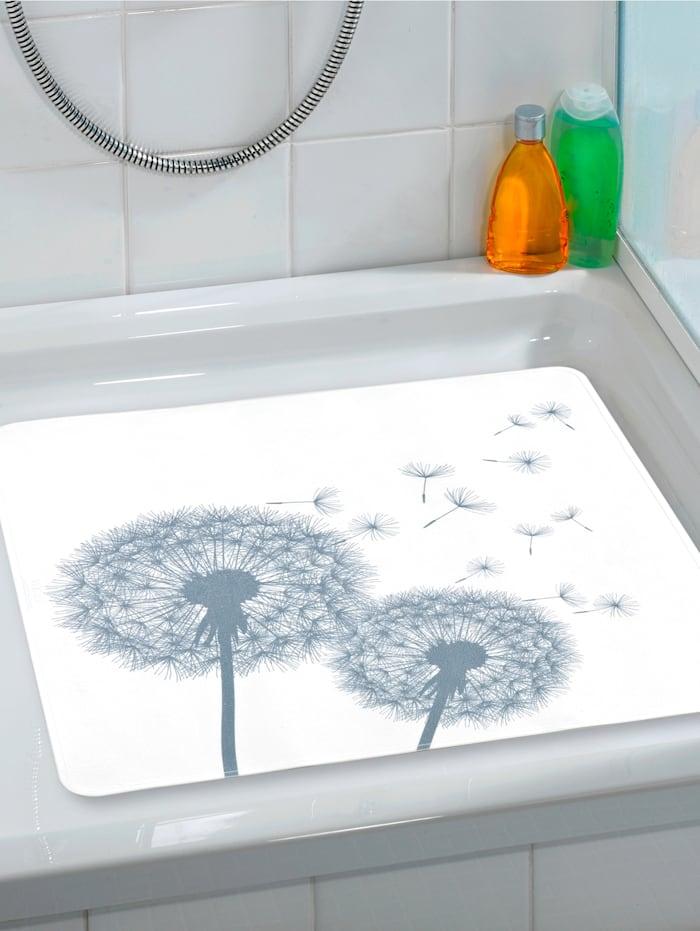 Wenko Liukuestematto suihkuun, valkoinen/harmaa