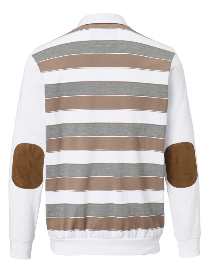 Sweatshirt met beleg van imitatiesuède