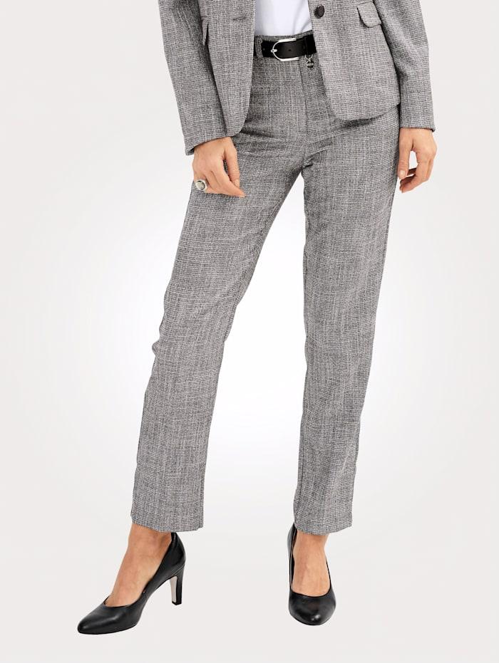 MONA Pantalon à fil brillant, Gris/Gris argenté