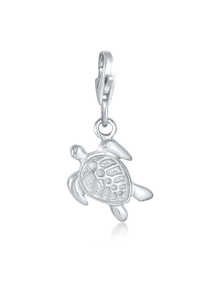 Nenalina Charm Anhänger Schildkröte Tier 925 Silber, Silber