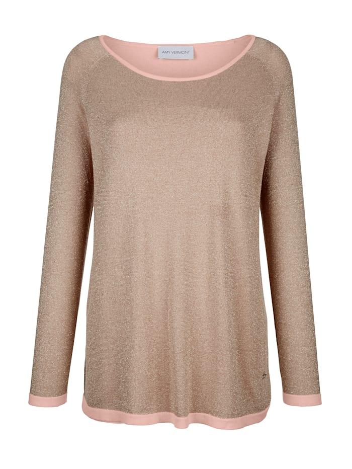 Pullover mit metallisiertem Garn und doppellagig